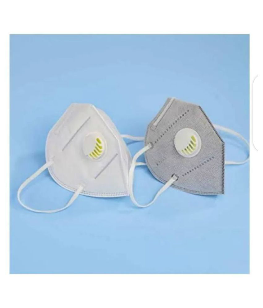 RAXTERR N95 Reusable Anti Pollution 5 Layer Filtration Mask With Respiratory Filter Multi Pack of 2