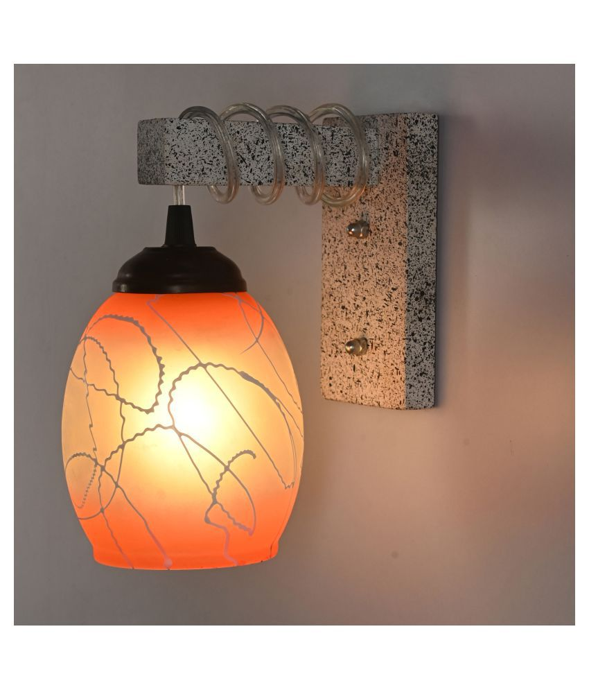 AFAST New Pendant Wood Fitting Shade Glass Wall Light Multi - Pack of 1