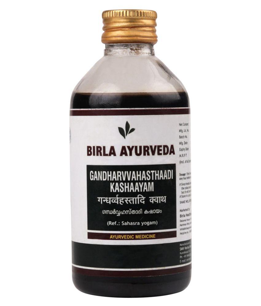 Birla Ayurveda Gandharvvahasthaadi Kashaayam Liquid 200 ml Pack Of 1