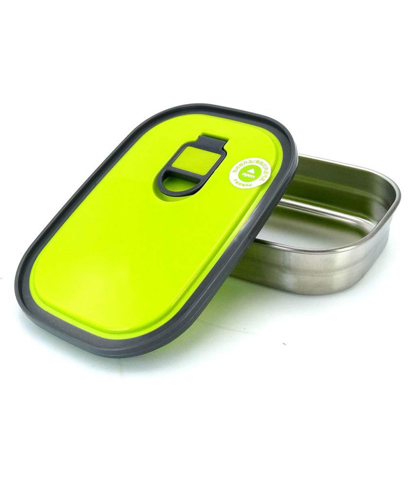 Stainless Steel Food Compartment Rectangle 1 container Single Layer Design Stainless Steel 1 PCS