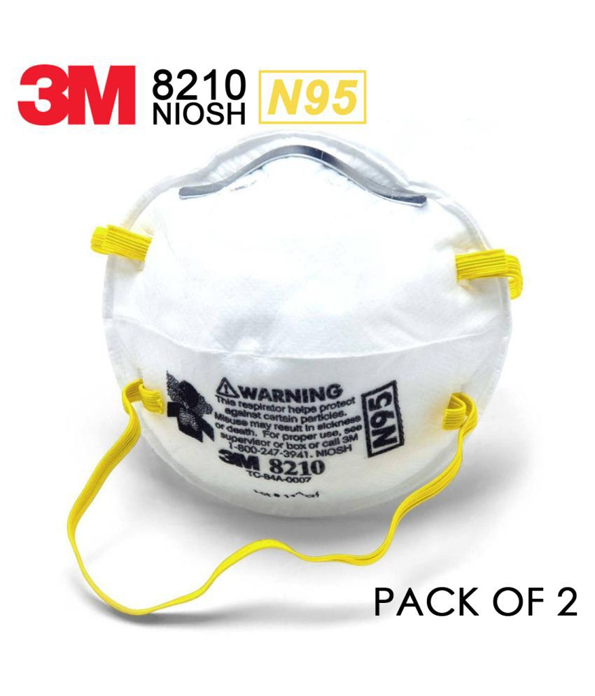 3M™ Particulate Respirator 8210, N95 160 EA/Case - Pack of 2
