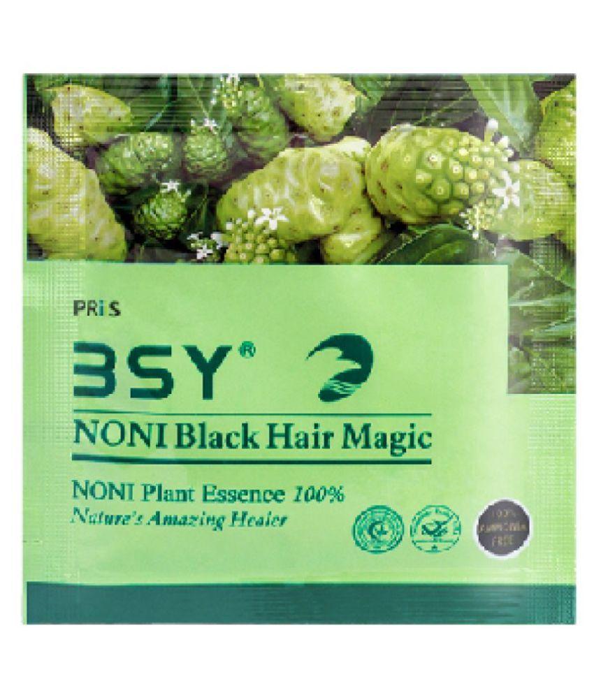 BSY Noni Black Hair Magic 12ml x 24 Sachets Permanent Hair Color Black 288 mL