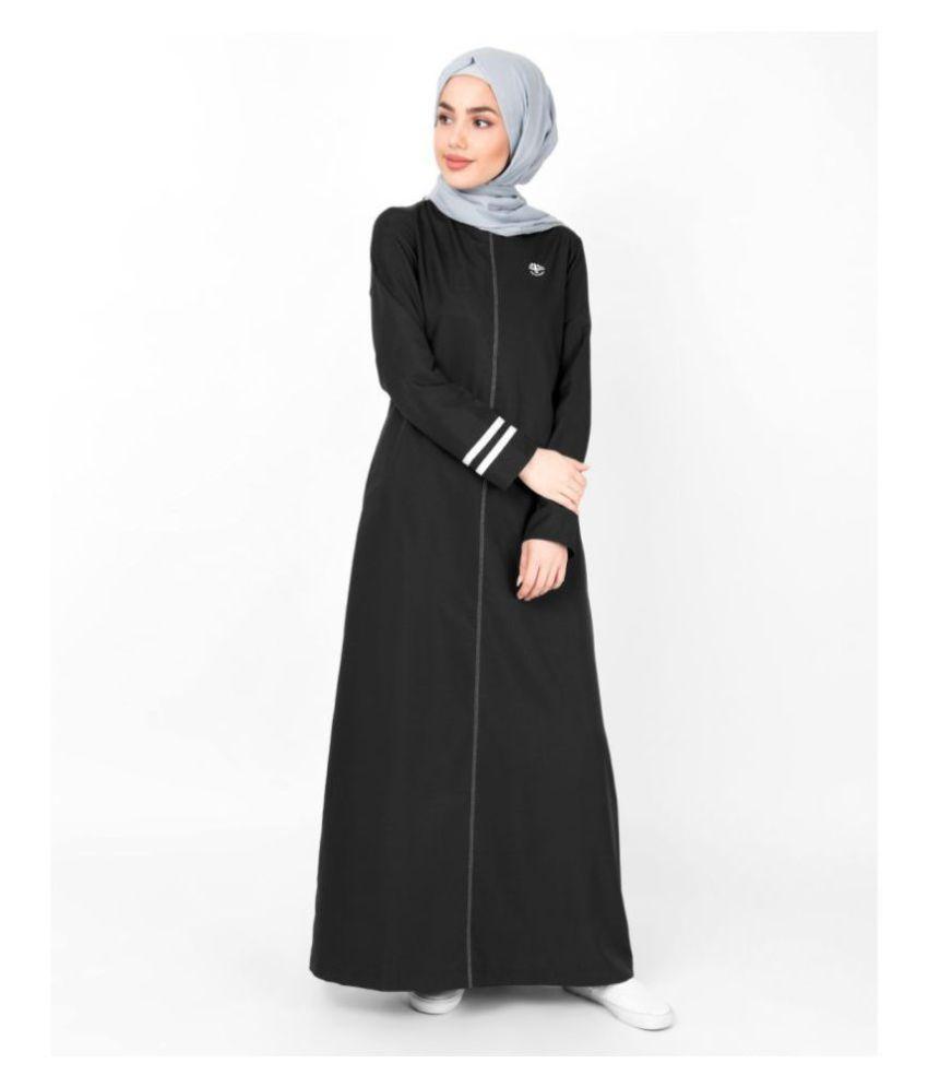 Silk Route London Black Viscose Stitched Burqas without Hijab