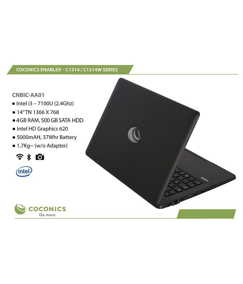 Coconics Enabler C1314W  Windows 10 Professional  Intel Corei3  7100 U  2.4 Ghz , 14 #034; #034; TN 1366 x 768, 4  GB RAM/ 500  GB SATA HDD