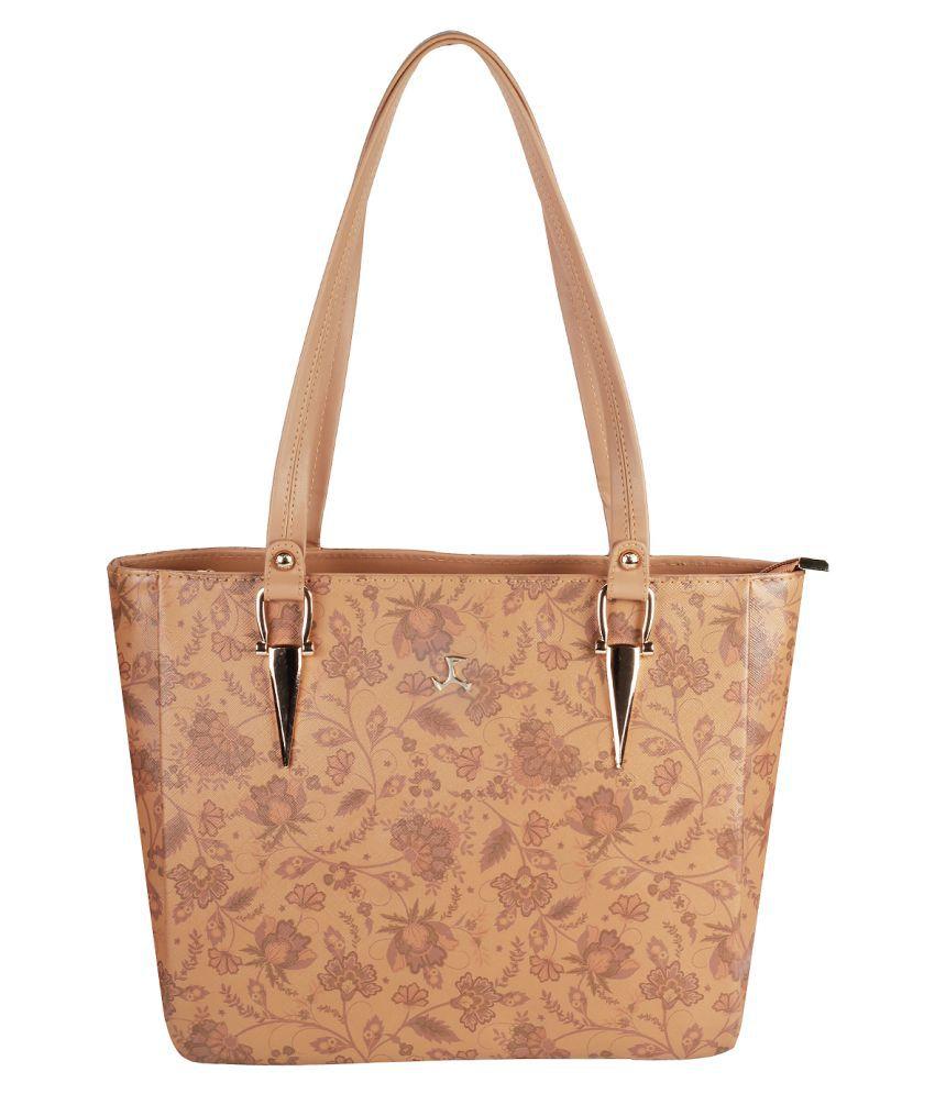 Mochi Cream Faux Leather Shoulder Bag