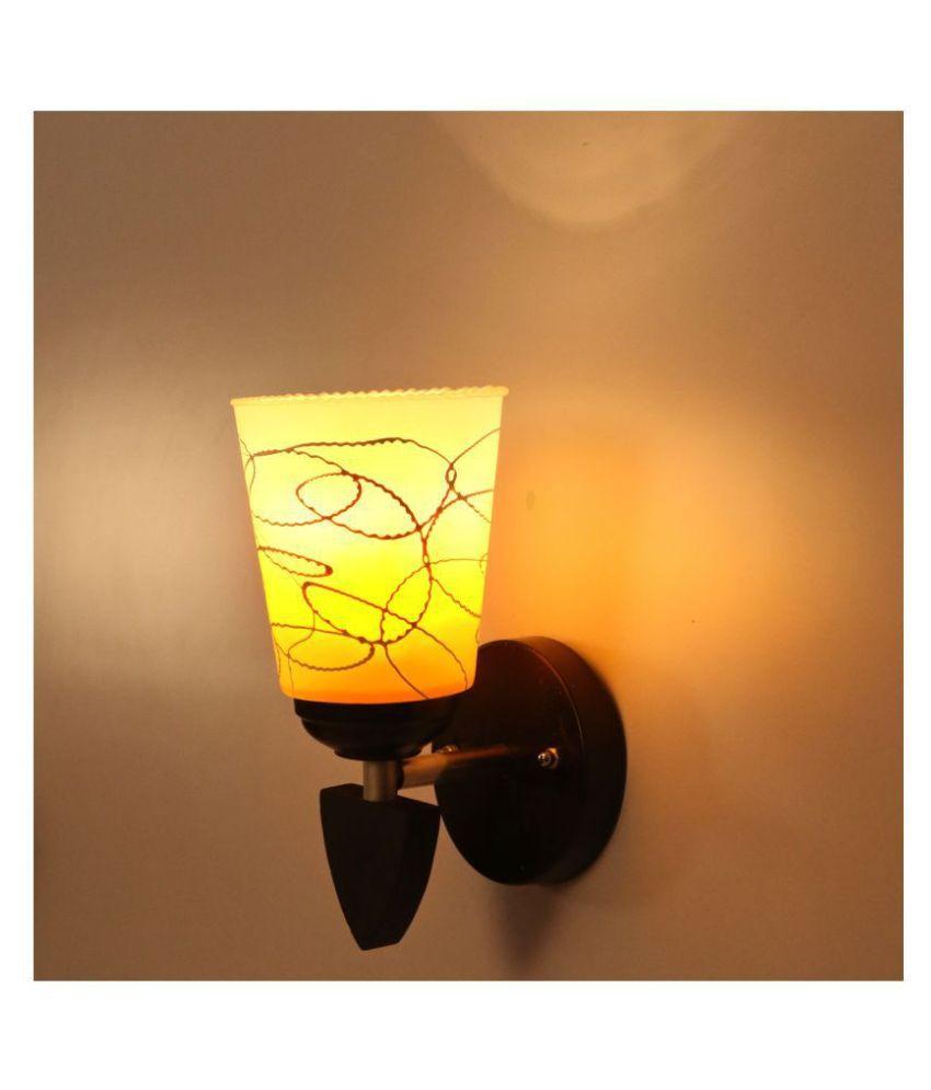 AFAST Decorative Wall Lamp Light Glass Wall Light Yellow - Pack of 1