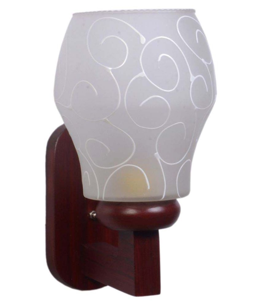 Somil Decorative Lamp Wood Wall Light - Pack Of 1