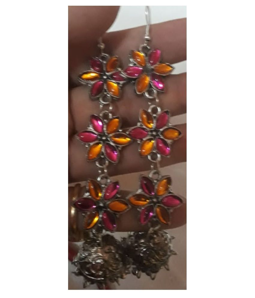 PINK AND ORANGE JHUMKI