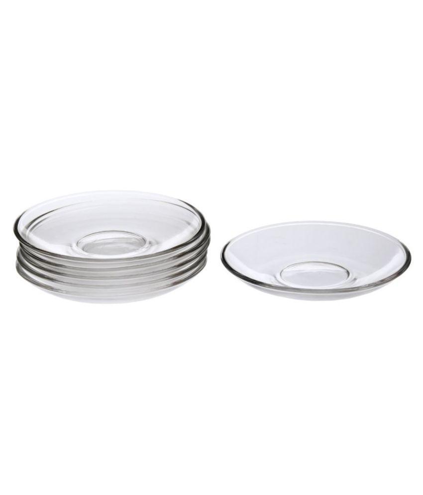 Somil 6 Pcs Glass Quarter Plate