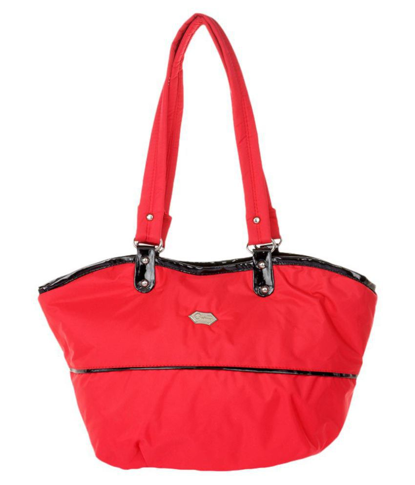 JGShoppe Red Fabric Shoulder Bag