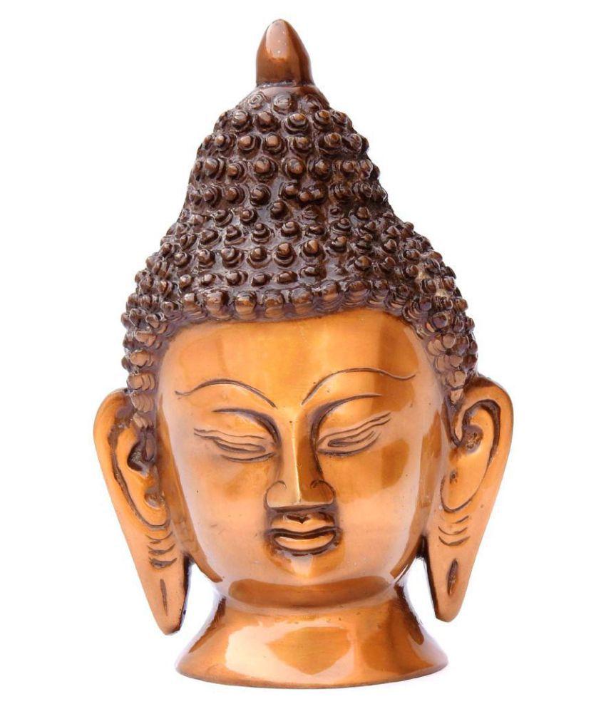 Susajjit Decor Religious Brass Buddha Idol 19 x 6 cms Pack of 1
