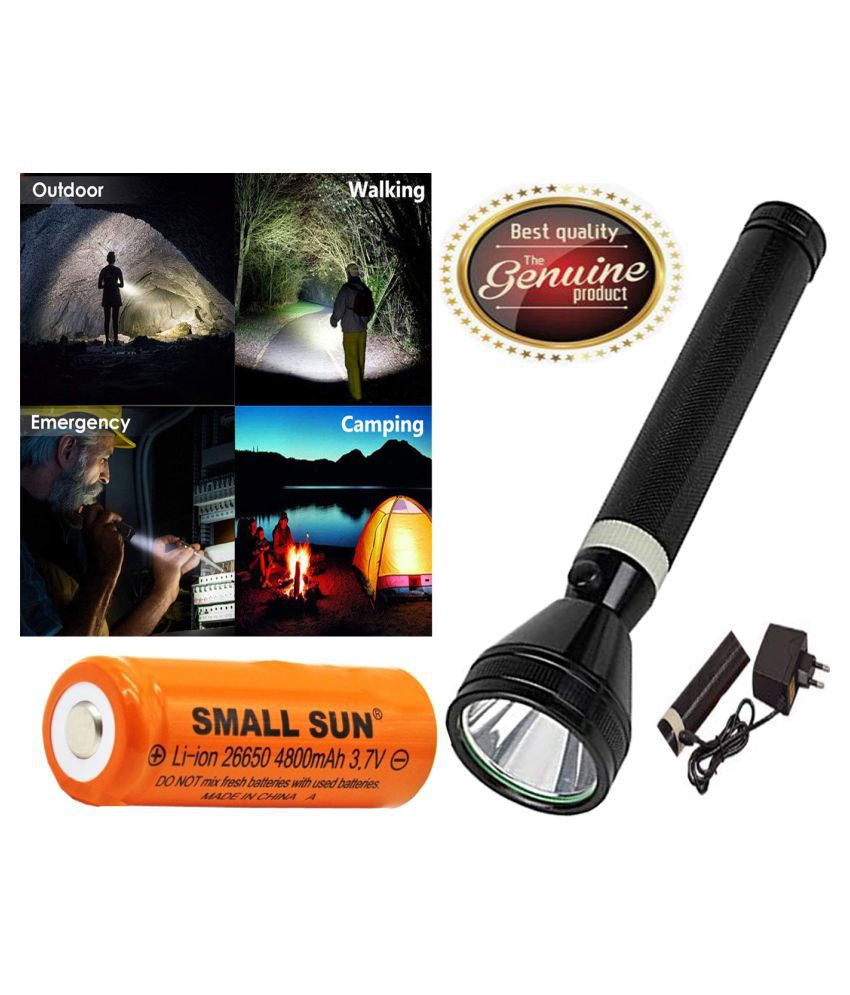 UC SUPER POWER FLASHLIGHT RECHARGEABLE TORCH 10W Flashlight Torch - Pack of 1