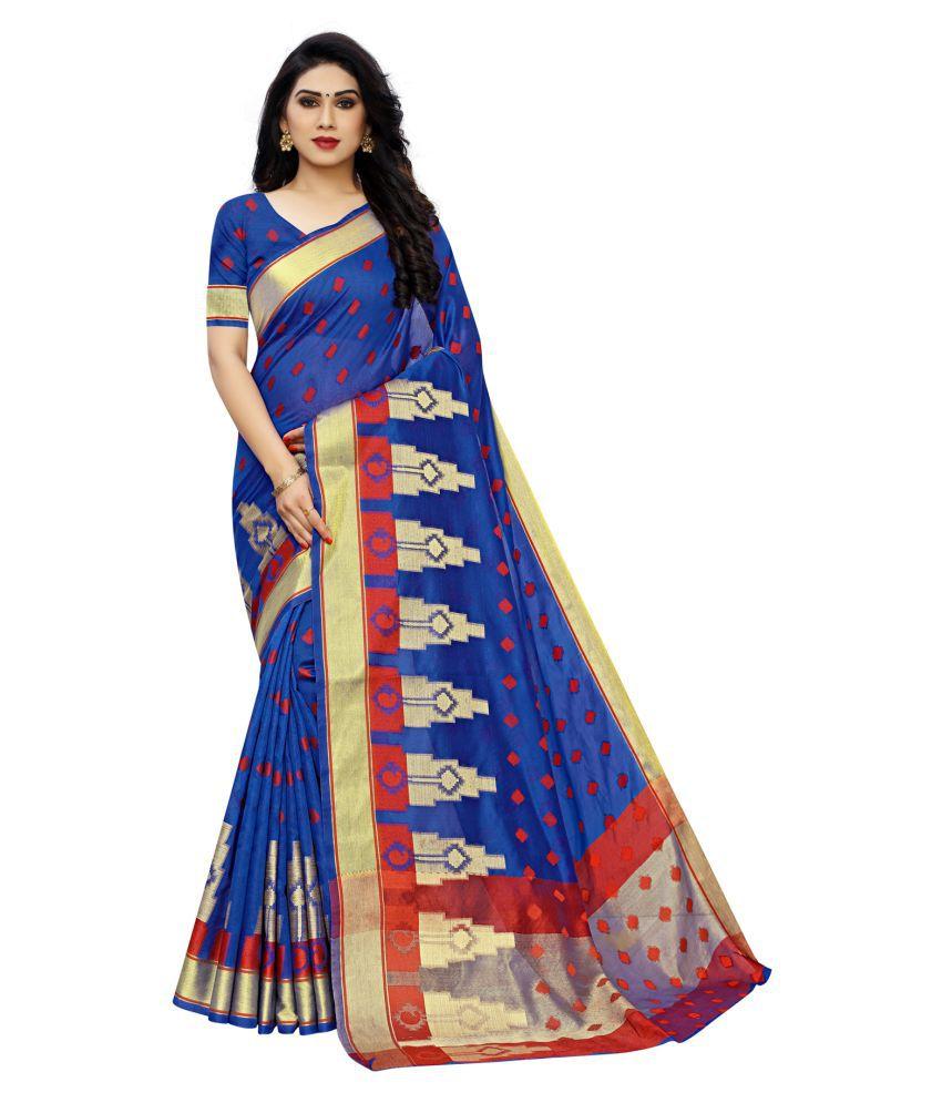ofline selection Blue Banarasi Silk Saree