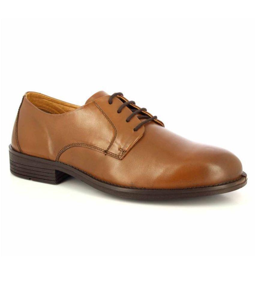 Alberto Torresi Office Genuine Leather Tan Formal Shoes