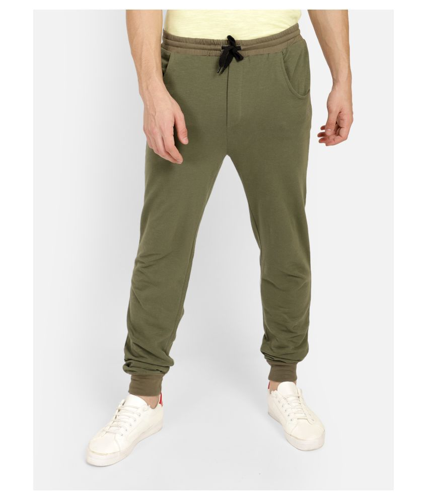 Aazing London Olive Green Cotton Joggers