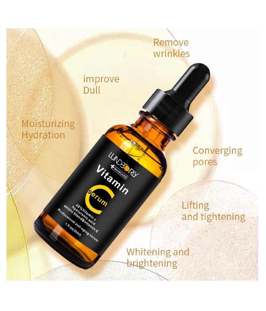 LUNDBORLY VITAMIN C Acne Control ,Multi Purpose Skin Care Skin Whitening Face Serum 30 mL