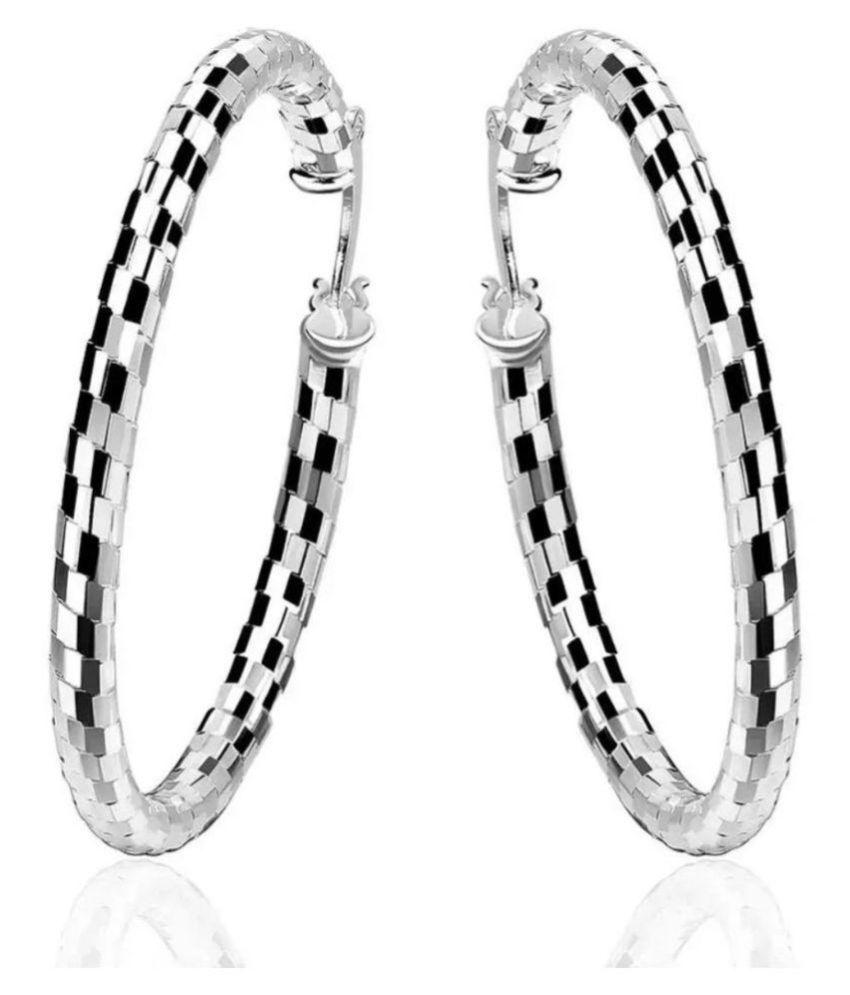 Jazzy Large Size Hoop Earrings For Women & Girls…
