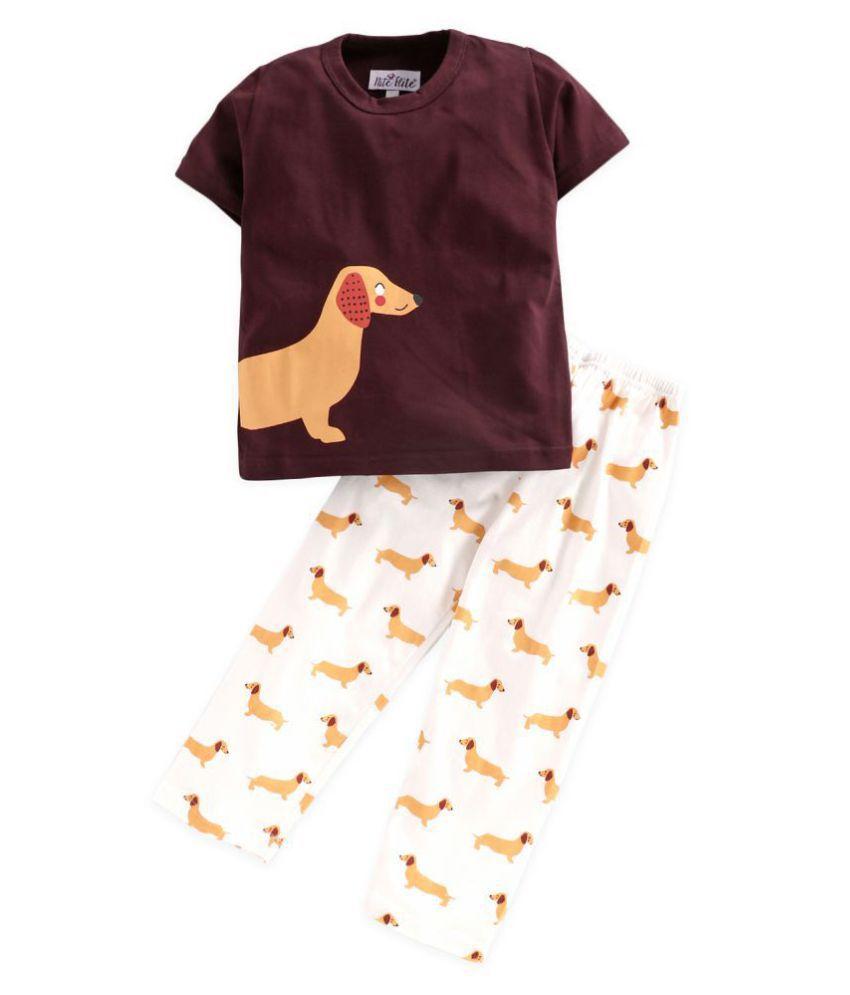 Nite Flite Boys' Dog Print Cotton Pyjama Set