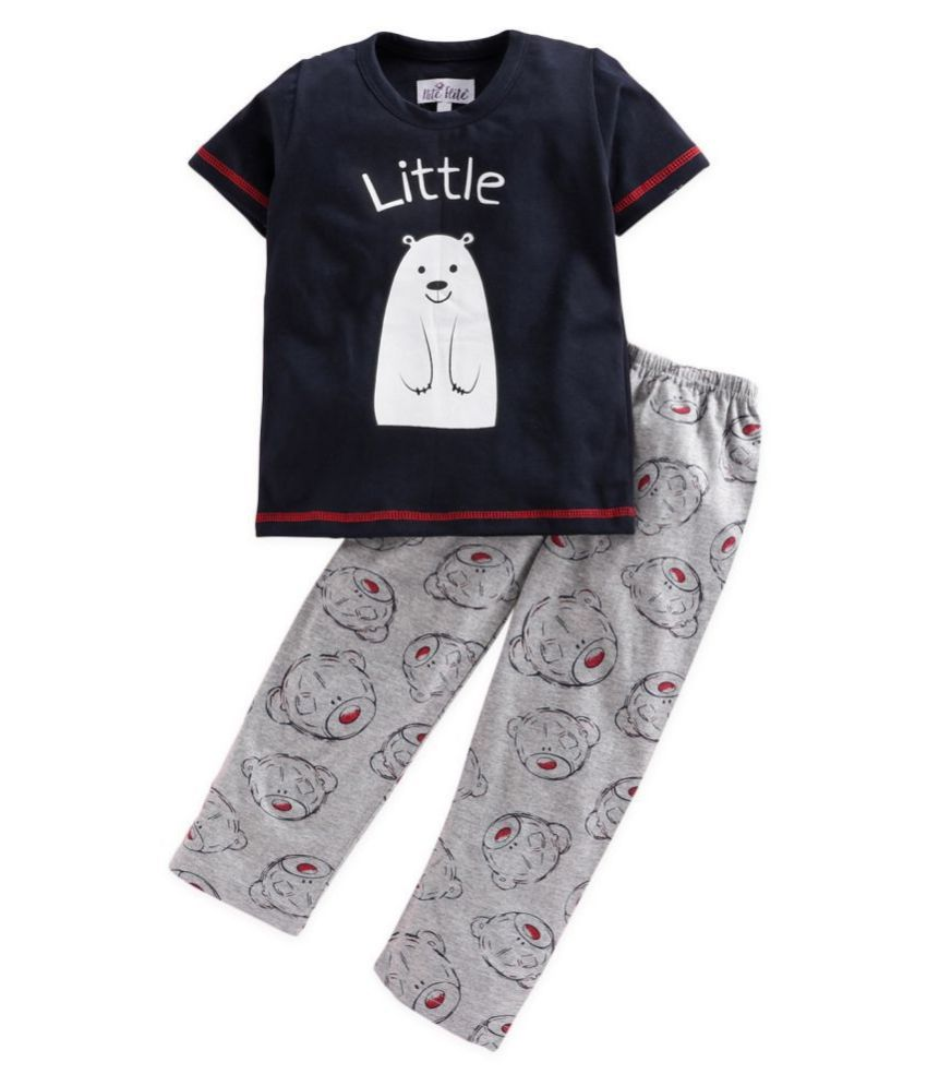 Nite Flite Girls' Little Bear Print Cotton Pyjama Set