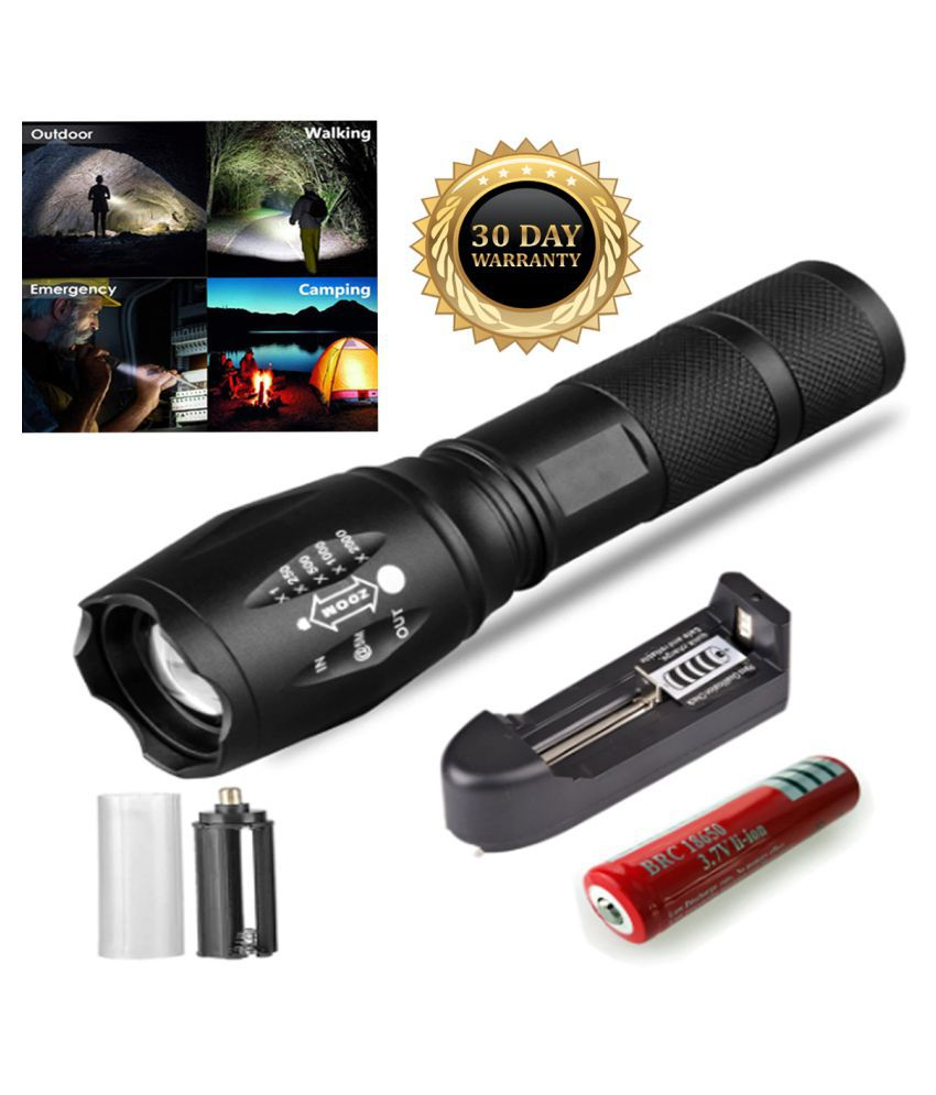 UC Super power rechargeable flashlight zoomable led torch 14W Flashlight Torch - Pack of 1