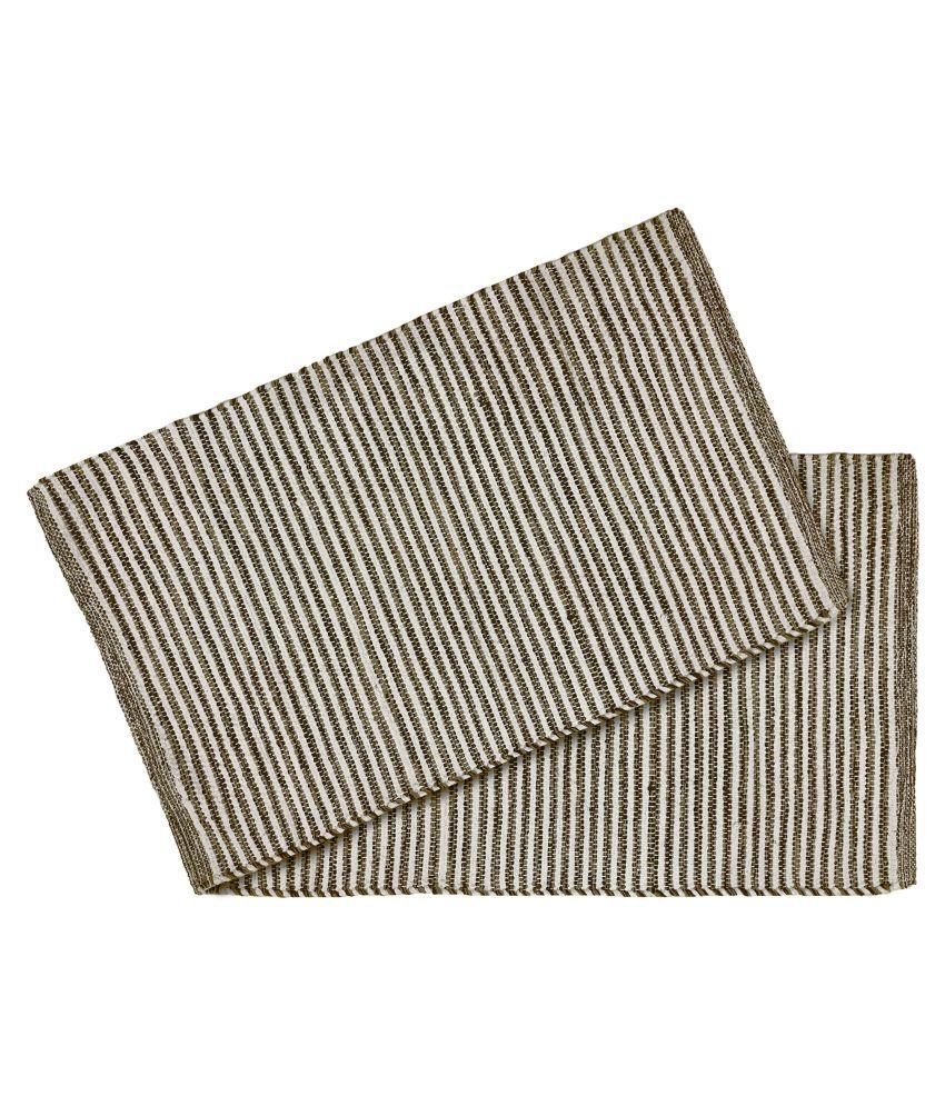Youlive Brown Set of 2 Regular Floor Mat