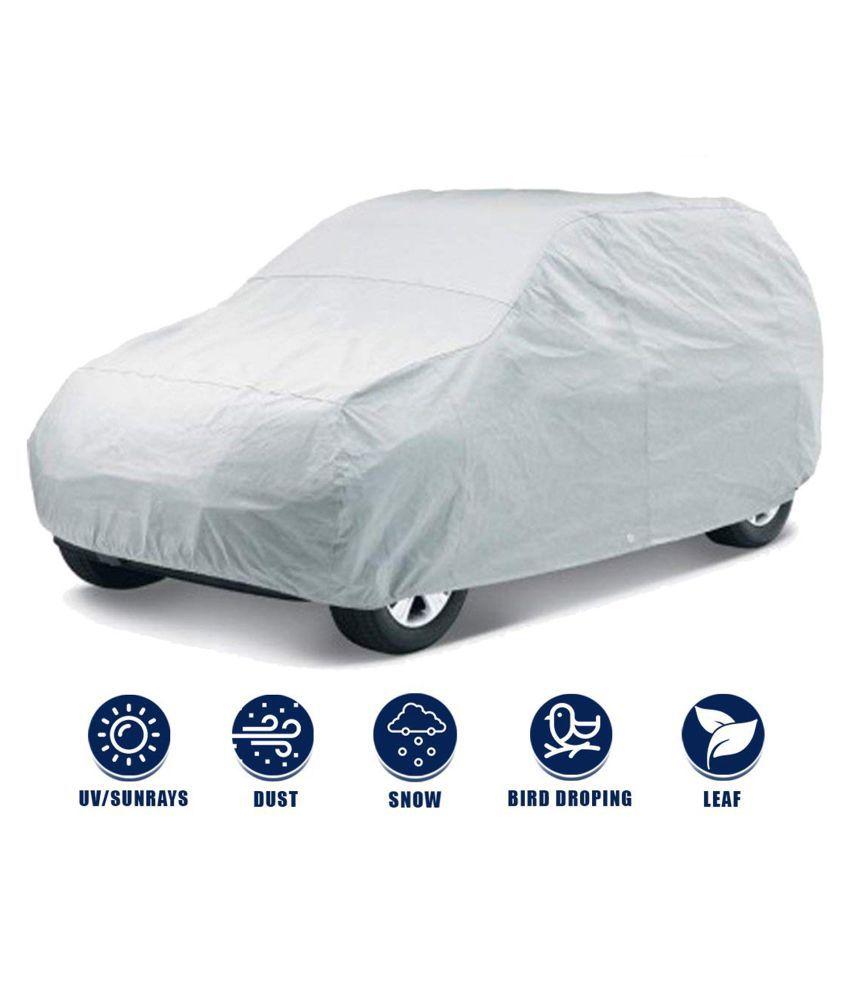 Soami Silver Matty Dust Proof Car Body Cover for Maruti Suzuki Alto 800 with Triple Stitching & Light Weight (Silver Colour) Model 2018-19