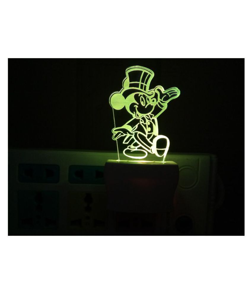 shubh creration Night Lamp Multi - Pack of 1