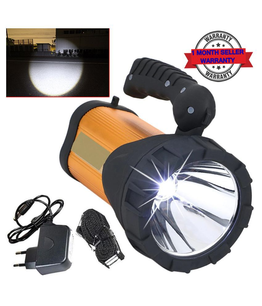 High Power 100w Rechargeable 3 MODE Led Torch Above 50W Flashlight Torch 1500M  Metal TORCH - Pack of 1