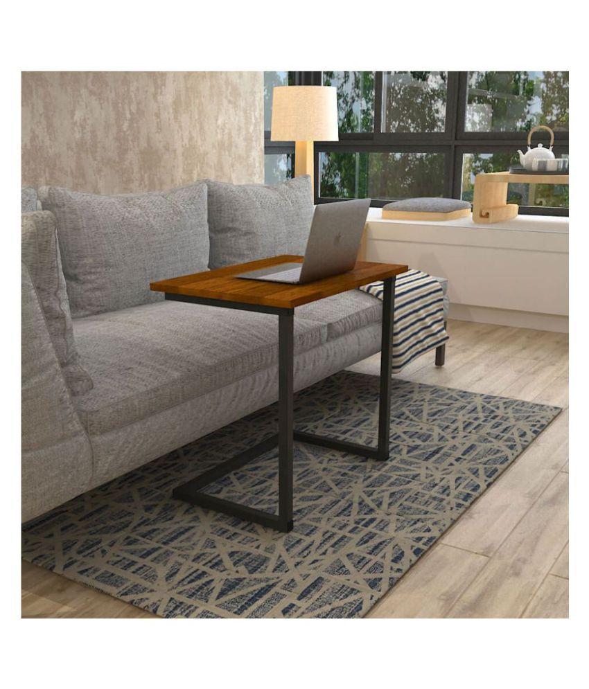 C Shape Sofa Table - Black