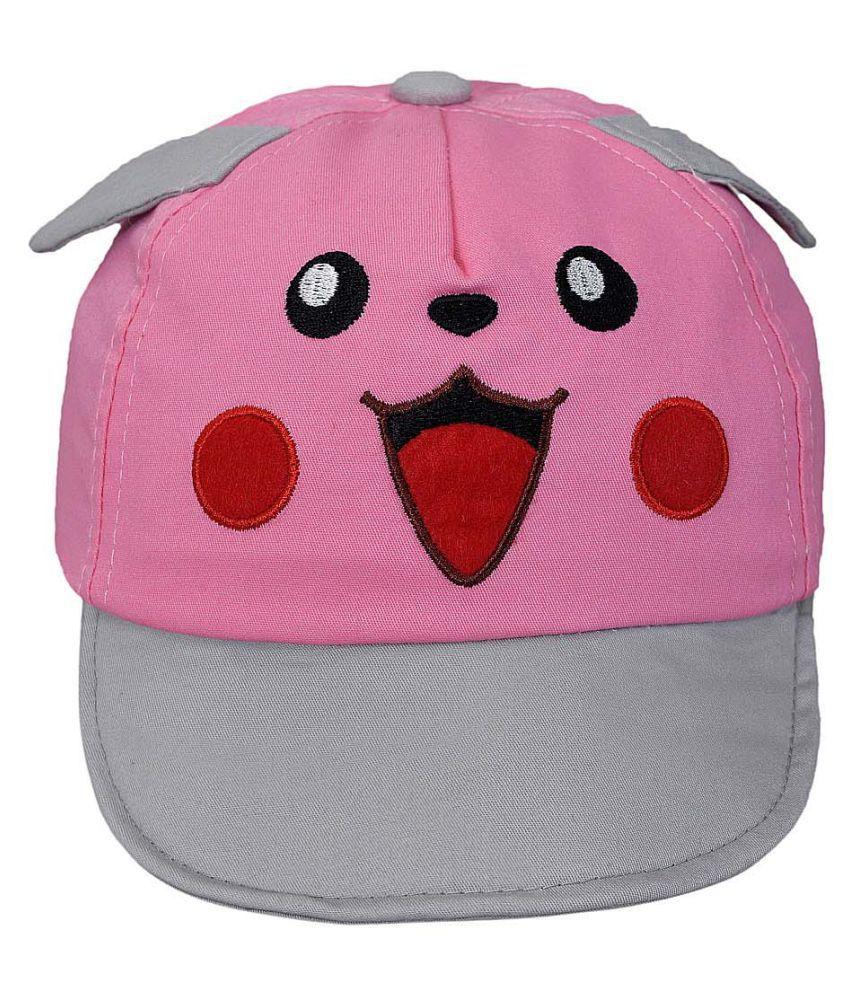 Kids Cap Pink & Grey - Just so cute