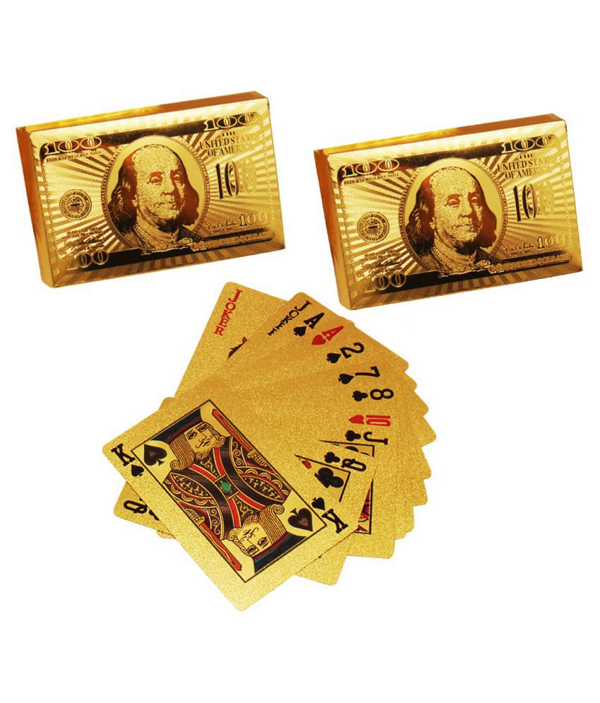 Luxantra 24 K Gold Plated Poker Playing Cards Set of 2