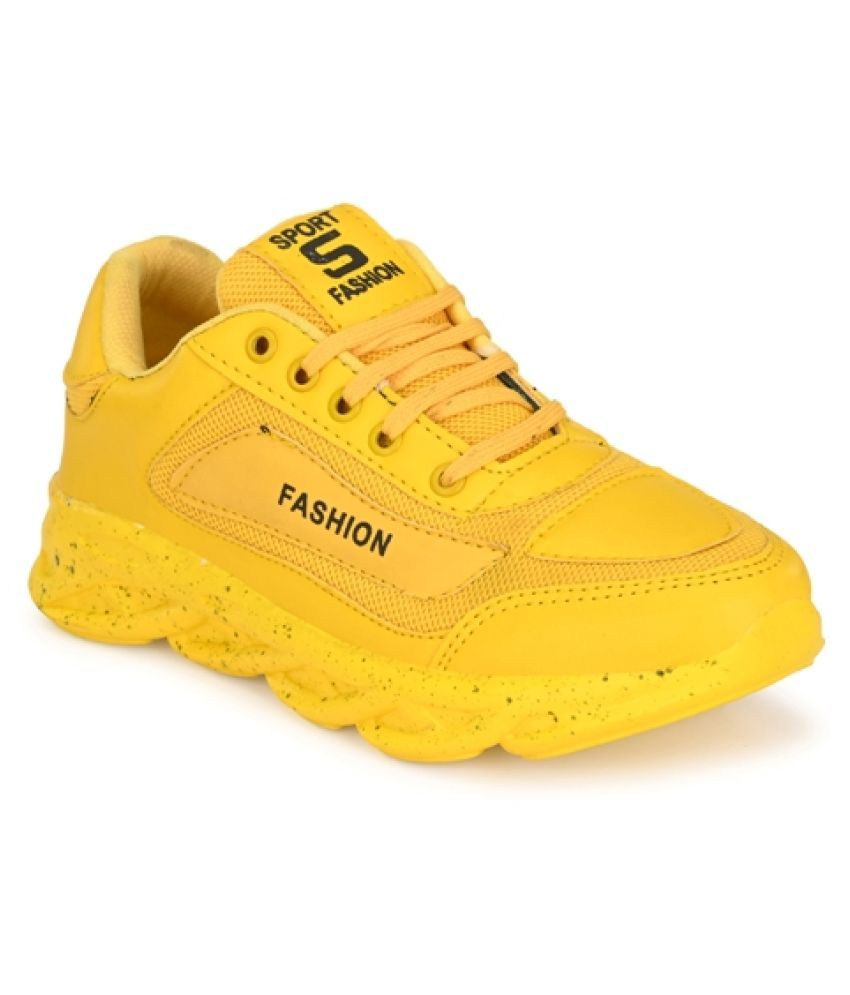 MISHTOO Lifestyle Yellow Casual Shoes
