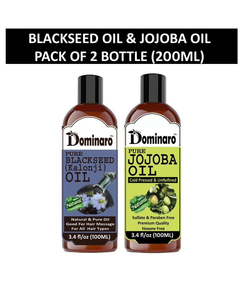 Dominaro 100% Pure Jojoba Oil Jasmine Oil 200 mL Pack of 2