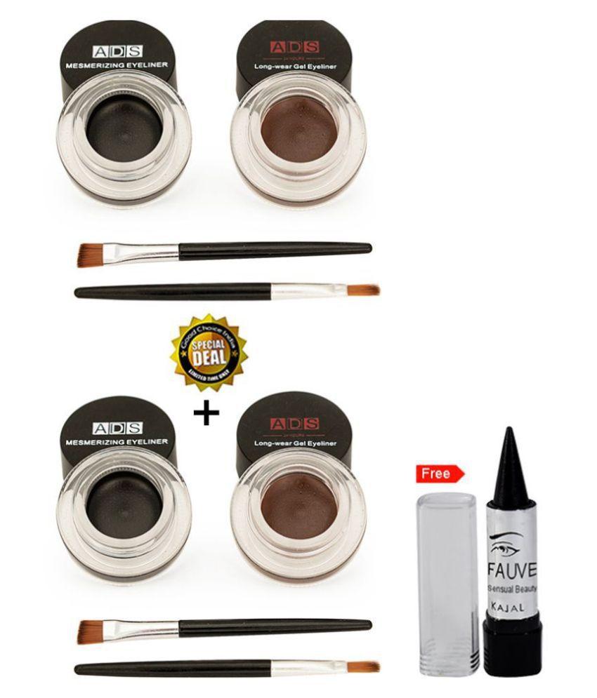 ADS Buy 1 Get 1 Free Cream Eyeliner Black Pack of 2 6 g