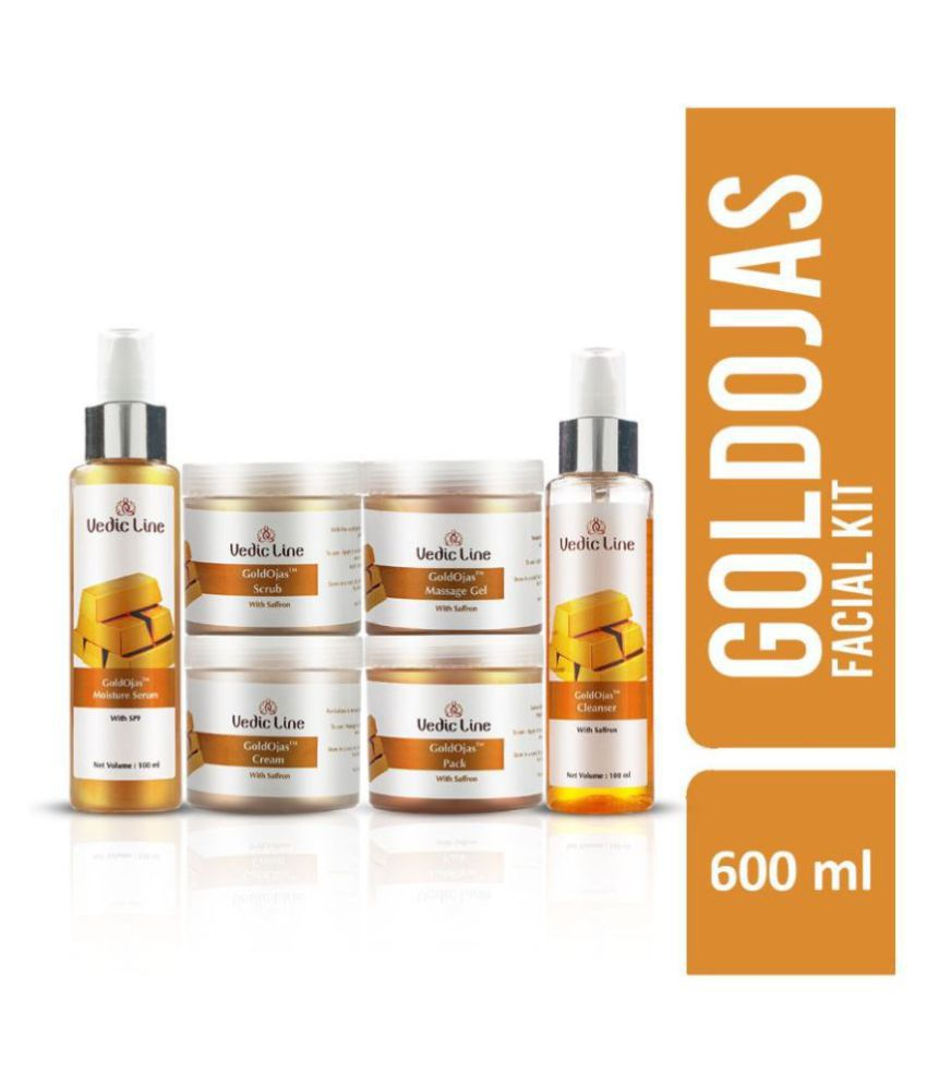 Vedic Line  Gold Ojas Facial Kit For  Luster & Glow suits fair complexion Facial Kit 600 mL