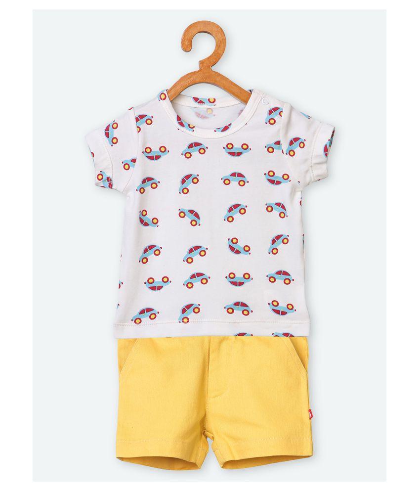 100% Organic Cotton T-Shirt & Short Set
