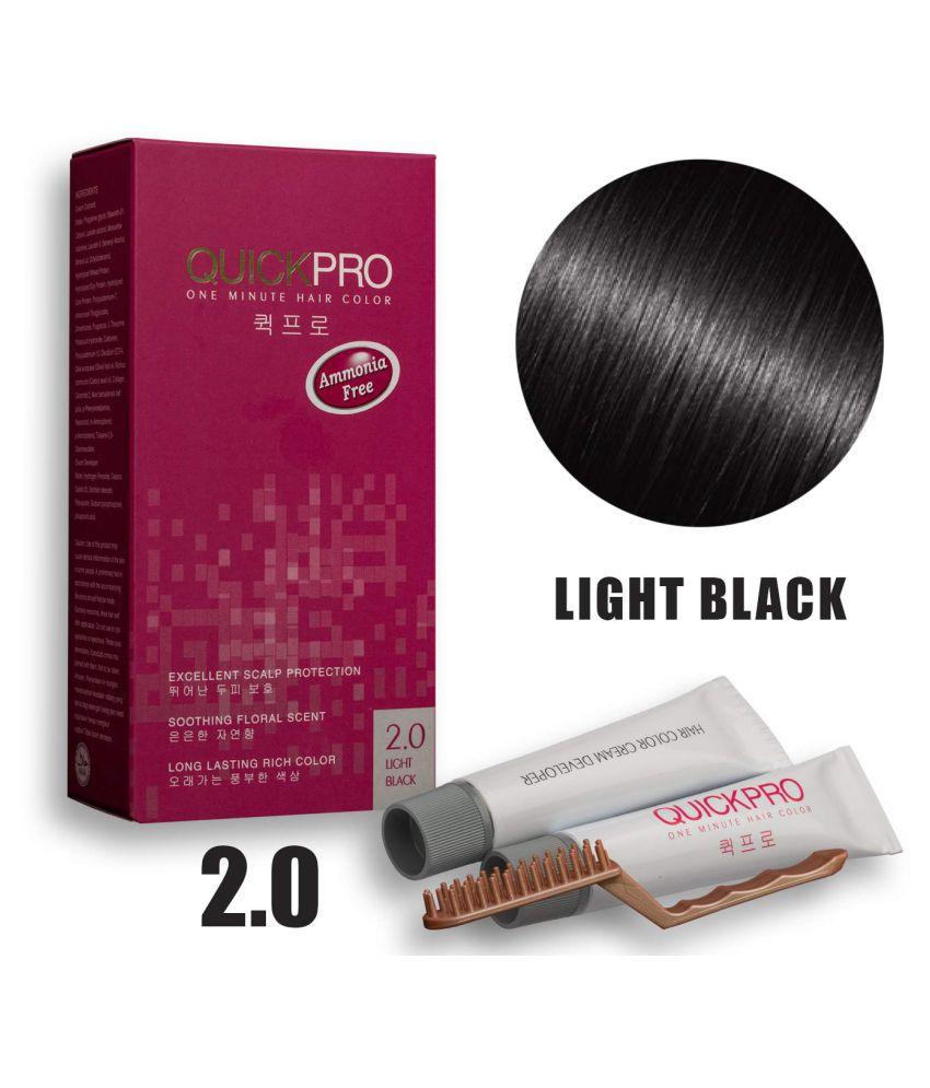 Quickpro 2.0 Permanent Hair Color Black 40 g