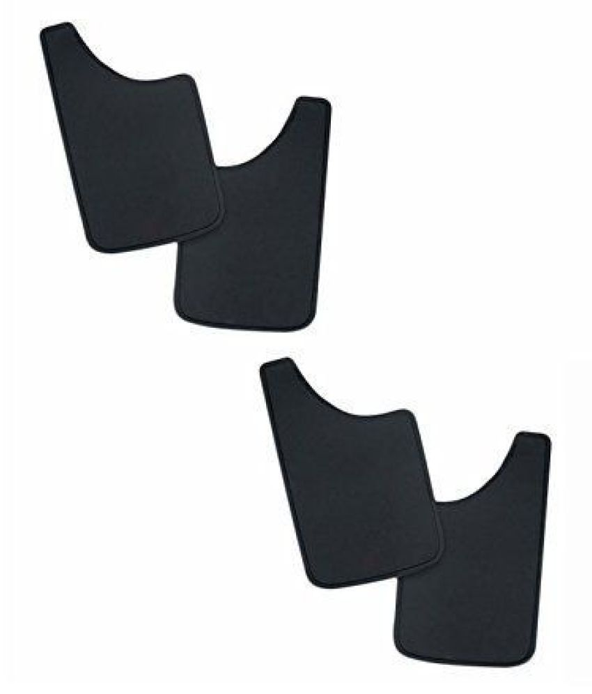 Mizzeo Car Rubber Mud Flap for Mahindra Scorpio Type 1 (2006-2008) (Set of 4)