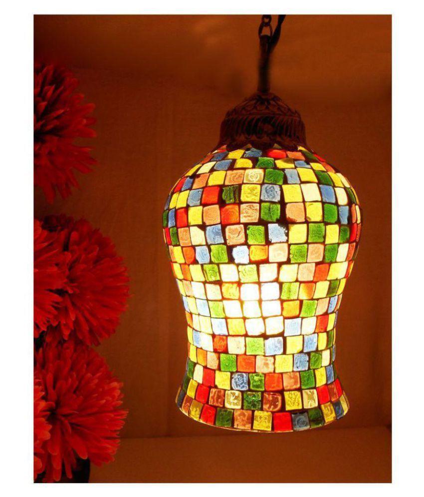 Susajjit Standard Glass Lamp Shade Multi - Pack of 1