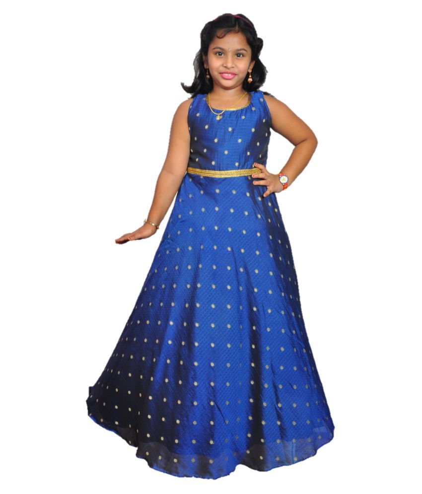NIHA  Girls Kids Party Wear Long Frock Maxi Gown Birthday Dress  ( LF112)