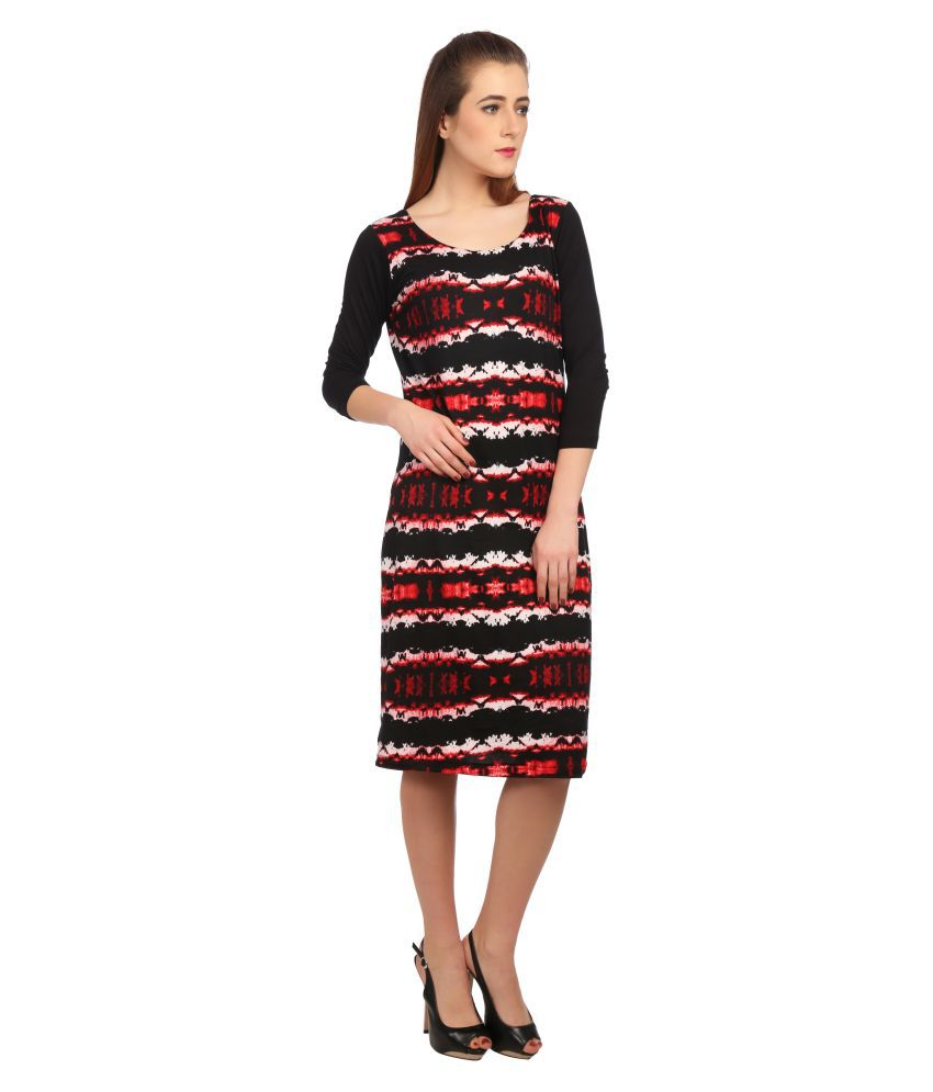 Taaruush Polyester Multi Color A- line Dress