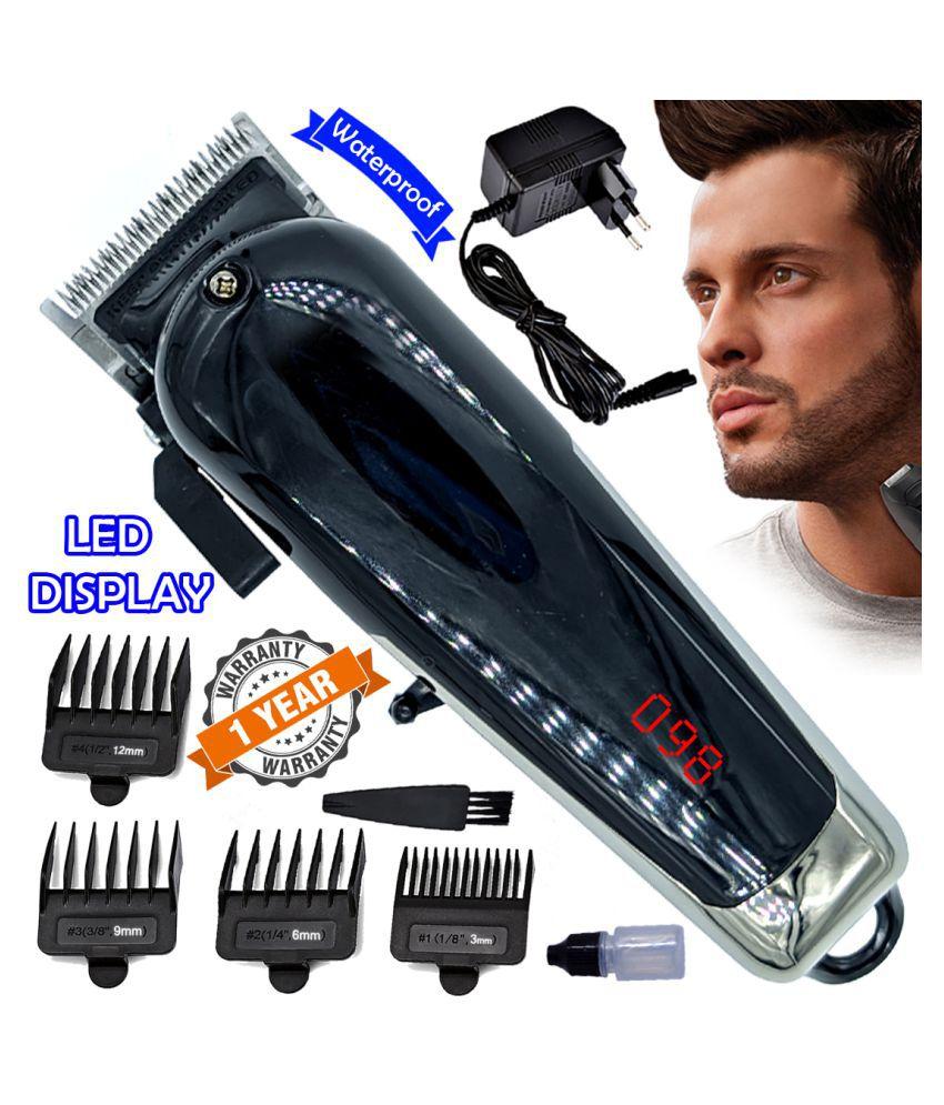 Men Geemy Waterproof Rechargeable Beard Mustache Trimmer Hair Clipper AC DC Casual Gift Set