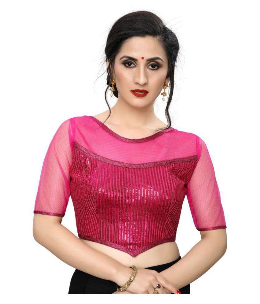 PRAFULBHAI KANTILAL RACHHADIYA (HUF) Pink Georgette Readymade with Pad Blouse