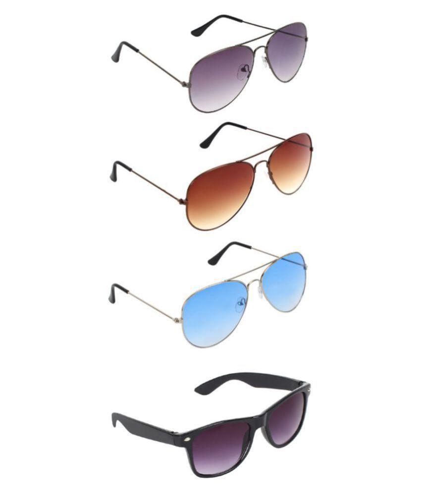 Zyaden Sunglasses Combo ( 4 pairs of sunglasses )