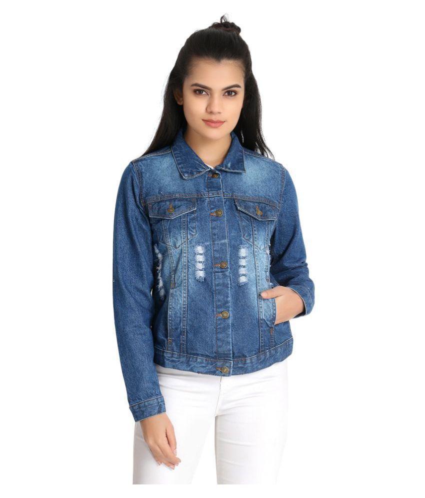 guti Cotton Blend Blue Jackets