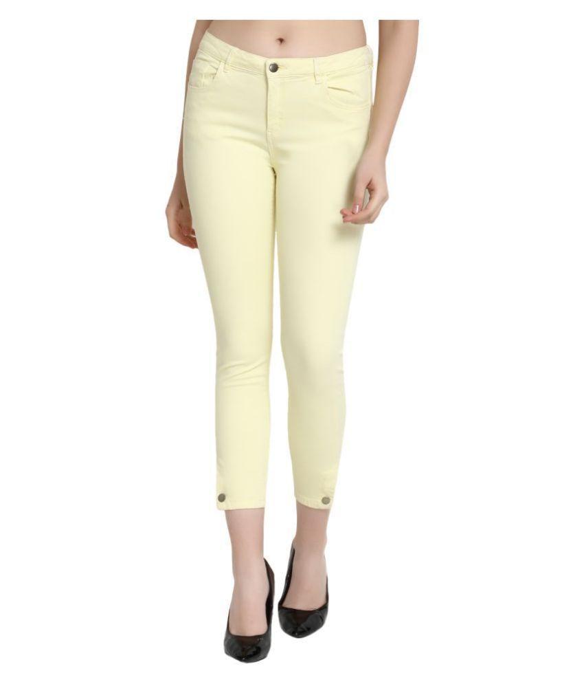 guti Cotton Lycra Jeans - Yellow