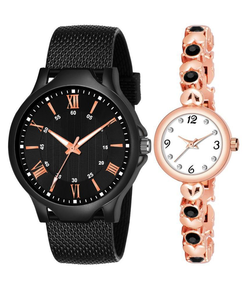 HERITA ENTERPRISES K_512_742 COUPLE ANALOG QUARTZ WATCH FOR MEN AND WOMEN