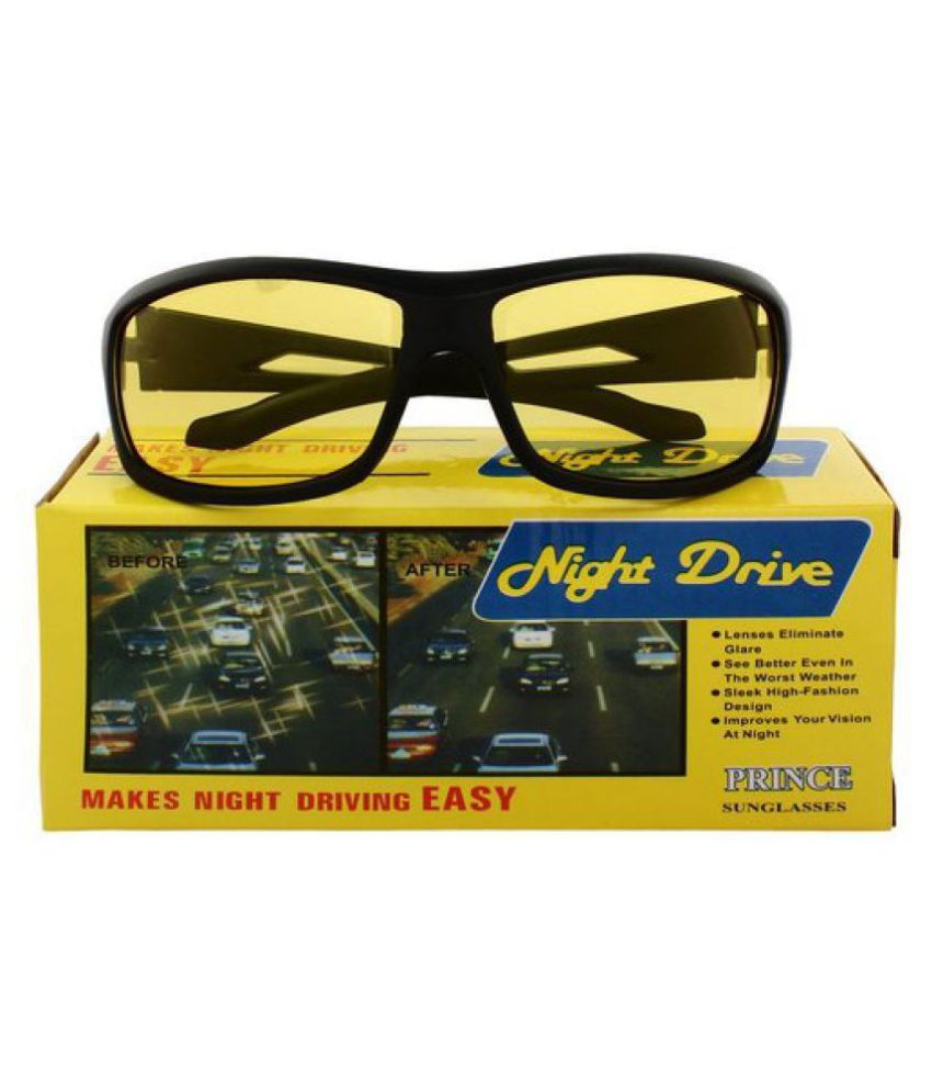 Unisex Day and Night HD Vision Anti-Glare UV Protected glass for Driving (Yellow)  WITH YELLOW BOX PACKING