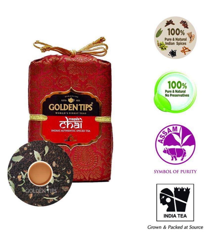 Golden Tips Masala Chai Black Tea Loose Leaf 200 gm