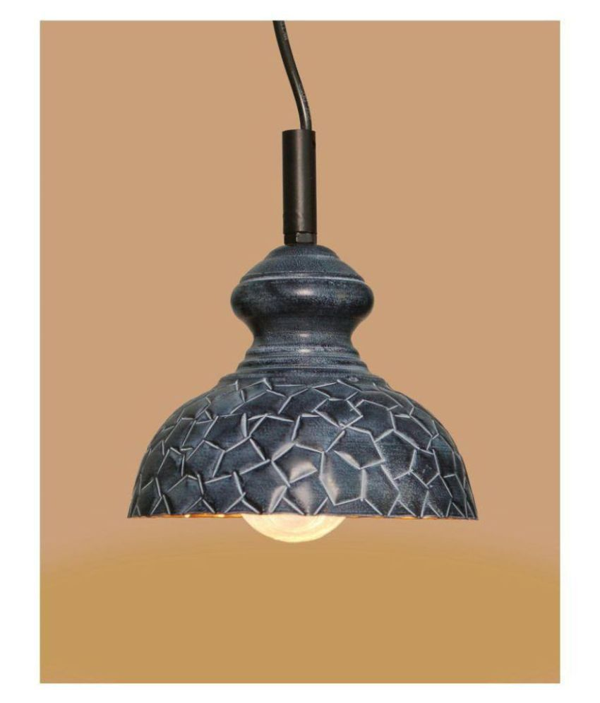 A&H Iron Geometrical Design  Pendant Gray - Pack of 1